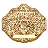 Loot Crate WWE World Heavyweight Champion Pin- Special Edition Gold WCW World Championship Collectible Pin- Authentic Raw WWE Belt Pin