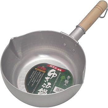 谷口金属 日本製 和の職人 誉ゆきひら鍋 シルバー 20cm 容量:2.4L ガス火専用 軽くて使い易い 熱伝導がよいアルミニウム製
