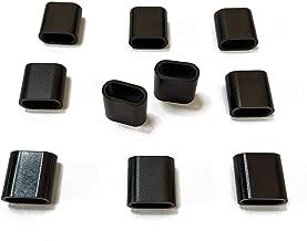 Cierre de cinta textil de aluminio plateado – 10 unidades, color Schwarz Flach