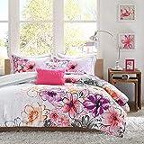 Intelligent Design Comforter Set Vibrant Floral Design, Teen Bedding for Girls Bedroom Mathcing Sham, Decorative Pillow, Full/Queen, Olivia Pink