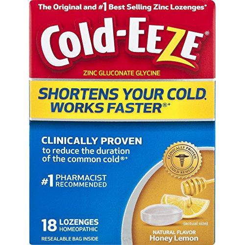 Cold-EEZE Cold Remedy Lozenges Honey Lemon, 18 Count
