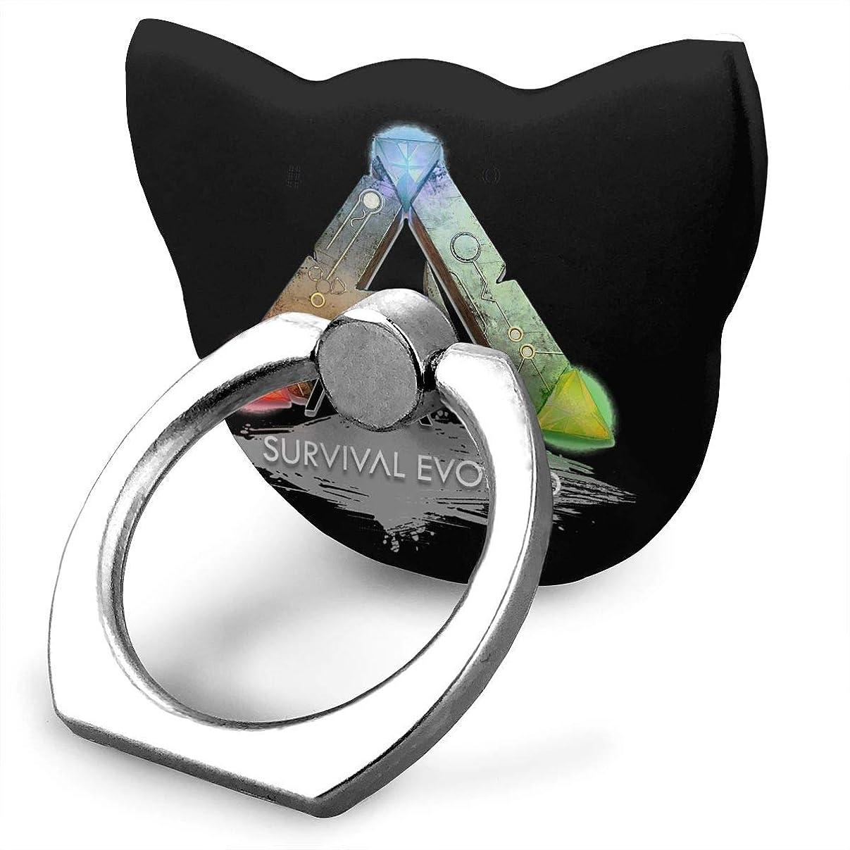 贈り物ブラスト摂氏度Ark Survival Evolved サ 可愛い猫 リングホルダー ホールドリング スタンド機能 落下防止 360度回転 IPhone/Android各種他対応