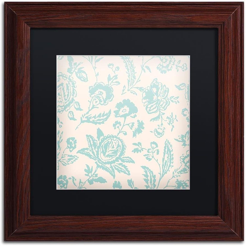 Trademark Fine Art ALI4449-W1111BMF Toile Fabrics XI by color Bakery, Black Matte, Wood Frame 11x11