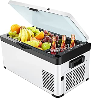 Resekylskåp, elektrisk kylbox kylbox stor, bärbar kylskåp 12 / 24V bilfrys 32 liter (30 l) minikyl