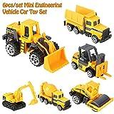 Bicaquu Mootea 6pcs / Set 1:64 Escala Aleación e Ingeniería de plástico Coche Camión de Juguete Mini Modelo de vehículo Regalo para niños