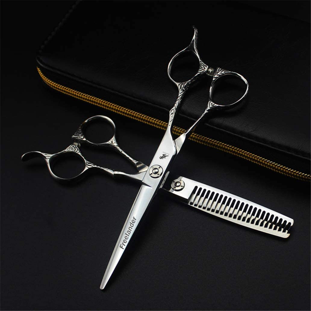Upscale New product!! All items free shipping Hair Cutting Scissors Set T - Hairdressing 6.0