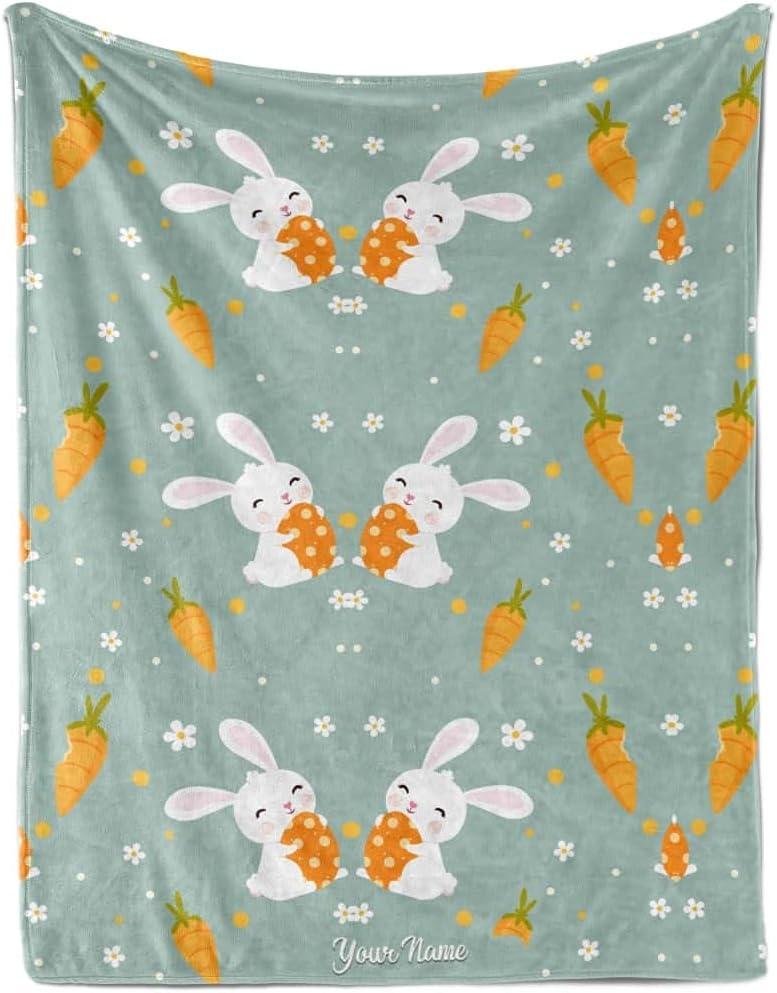 Launchigo Customized Easter Fleece Blanket. T Max 75% OFF Super-cheap Soft Cozy Sherpa