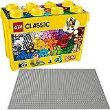 LEGO Classic 10698 10701 - Set di 2 mattoncini grandi + base grigia
