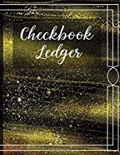 Checkbook Ledger: Checkbook Debit Card Register for Checking Accounts & Personal Budgeting with 6 Column Payment Record and 4-Year At-A-Glance Calendar | Alternating Gray and White Lines Gold Dust