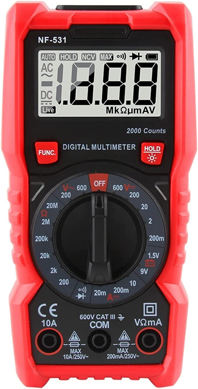 HAILAN-H HZ Tester NF-531 Max 81% OFF Indianapolis Mall Multimeter Display Digital Resistance
