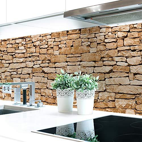 Küchenrückwand Naturstein Braun Premium Hart-PVC 0,4 mm selbstklebend 60x51cm