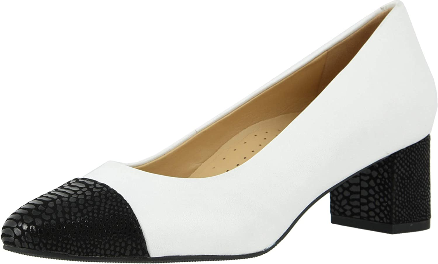 Trotters Women's Be super welcome Heels Pump Wide White Black online shopping 6.5