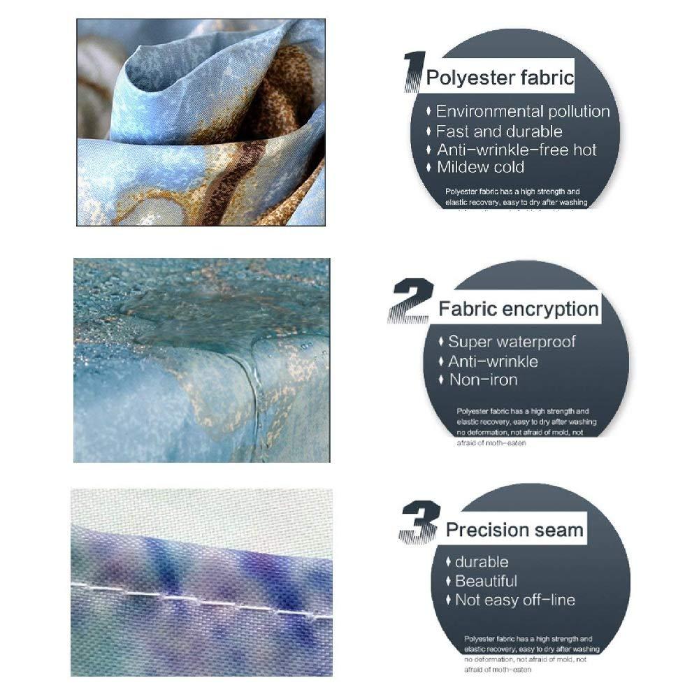 Cortina De Ducha Tela De Poli/éster Impermeable Cortina De Ba/ño De Impresi/ón Digital 180 x 180cm Stile-6 Cortina de ba/ño de Tela Impermeable Resistente al Moho