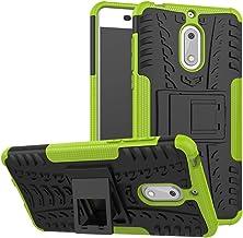 Case for Nokia 6 Case Cover,Case for Nokia 6 Arte Black Case Shockproof Mobile Phone Case Stand Green