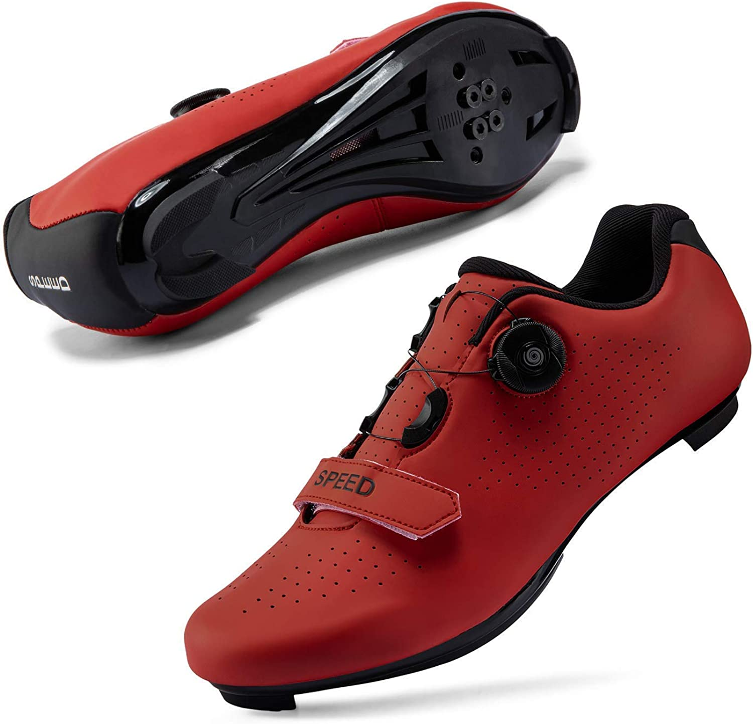 DIQUEQI Mens Womens Road Bike Cycling Shoes Riding Shoes with Compatible Cleat Peloton Shoe with SPD and Delta for Men Lock Pedal Bike Shoes Indoor Outdoor Cycling Shoes Mens Women