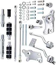 Compatible with 1991-2003 Harley Sportster XL883 XL1200 Forward Controls Kit (Chrome Pegs Levers Linkage and Mounting Accessories)
