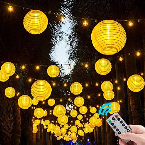 lampion lichterkette außen,4.2m 20 lampions Lichterkette für Party,Geburtstag,Hochzeit,Garten