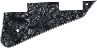 Musiclily Electric Guitar Pickguard for Gibson Les Paul Standard Modern Style Guitar Parts, 4Ply Pearl Black