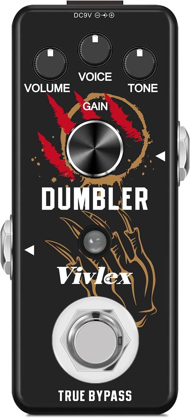 Vivlex LEF-315 Amplificador Simulador Pedal Clásico Dumble Dumbler AMP Simula Overdrive Guitarra Efectos Analógicos Mini Pedal para Guitarra Eléctrica True Bypass