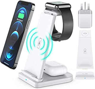 15w Wireless Phone Charging Dock Station 3 in 1 For iPhone, Airpods, Watch