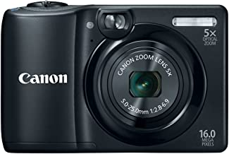 Canon PowerShot A1300 16.0 MP Digital Camera with 5x Optical Zoom 28mm Wide-Angle Lens (Black) (OLD MODEL)