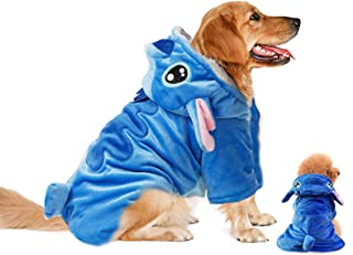 Gimilife Pet Costume, Dog Hoodie,Pet Xmas Pajamas Outfit, Pet Coat for Small Medium Large Dogs and Cats,Pet Disney Stitch Cartoon,Halloween and Winter