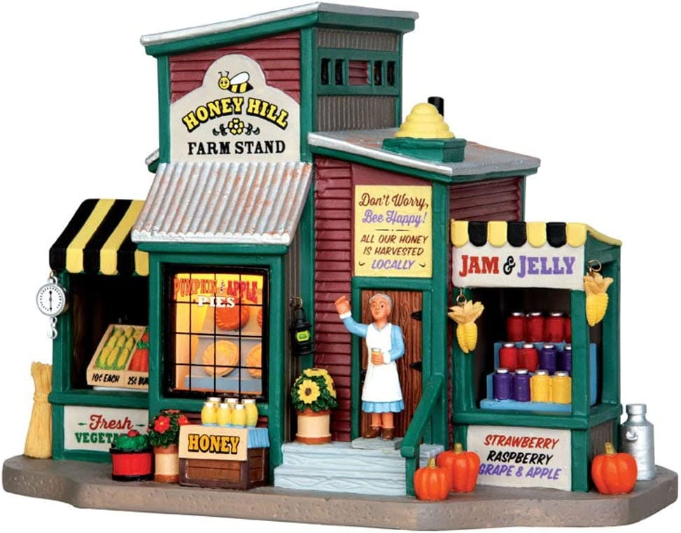 Lemax Topics on TV Village Collection Honey Hill 45711 Farm # Stand supreme