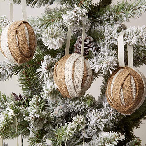 VHC Brands Christmas Holiday Decor-Shimmer Burlap Creme...