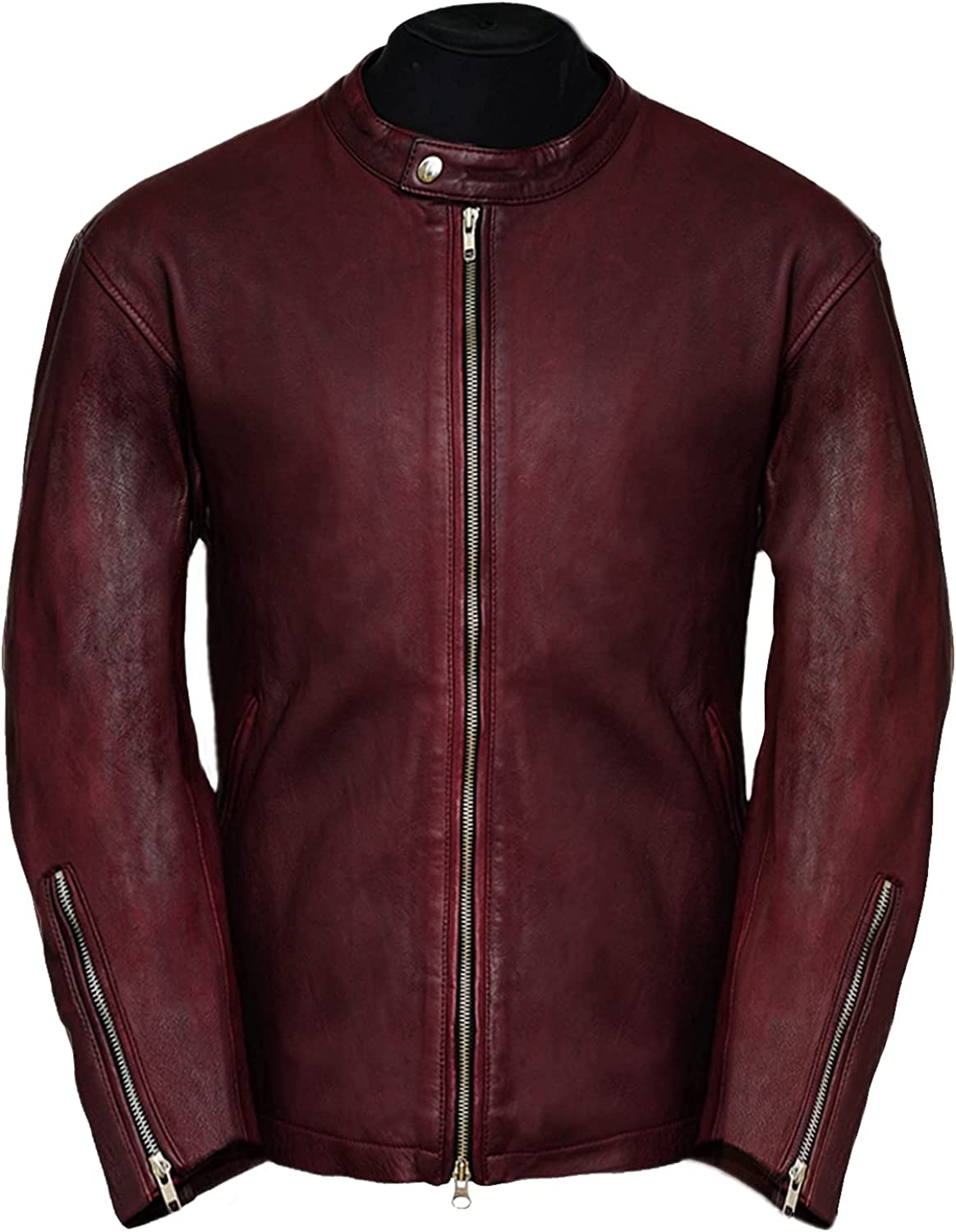 Pure Leather Moto Challenge the lowest price Racer Lambskin Motorcycle Free shipping - Men for Jacket Sli
