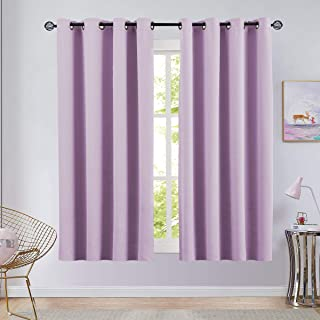 Vangao Room Darkening Curtain Lilac for Girls 63 inches...