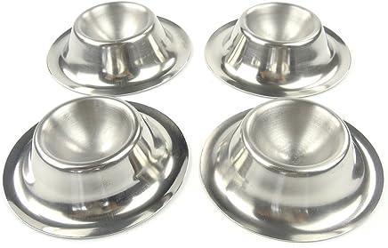 Preisvergleich für EMA a12210070Eierbecher Set von 4Edelstahl Silber