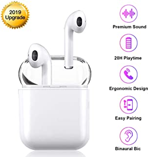 Medoda Bluetooth Headsets Wireless Headsets 5.0 in-Ear Wireless Earbuds with 【20 Hrs Play time】 3D Stereo Earphone IPX5 Waterproof Sports Headset for Android iOS Samsung Airpod Airpods