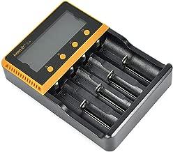 Rayuwen Cargador De Pilas Recargables 18650 EstacióN De Carga PortáTil 4 Slot LCD Smart 26650 Charge Controller