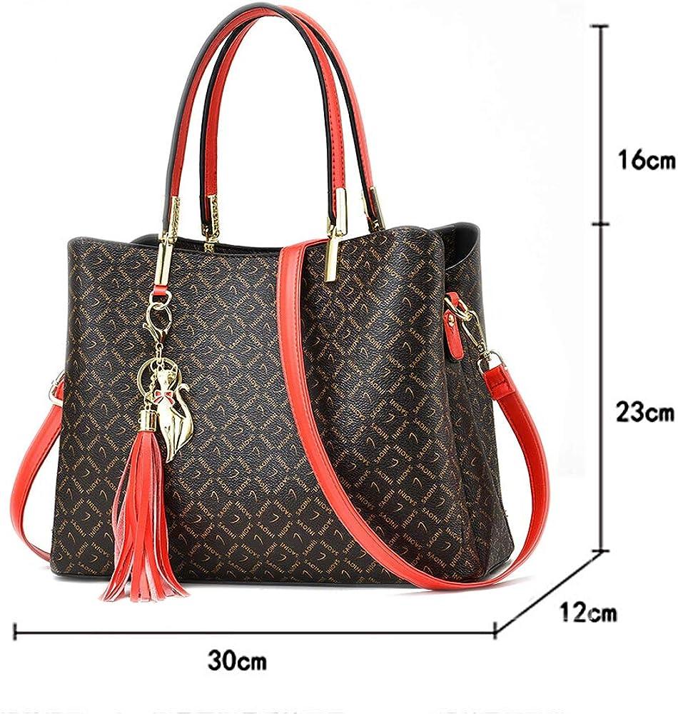 Handbags for Women PU Leather Top Handle Purses Satchel Tote Shoulder Bag