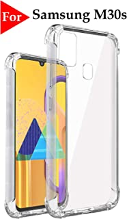 Jkobi Silicon Flexible Shockproof Corner TPU Back Case Cover for Samsung Galaxy M30s -Transparent
