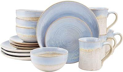 Mikasa Tanner 16-Piece Dinnerware Set, Service For 4, Light Blue