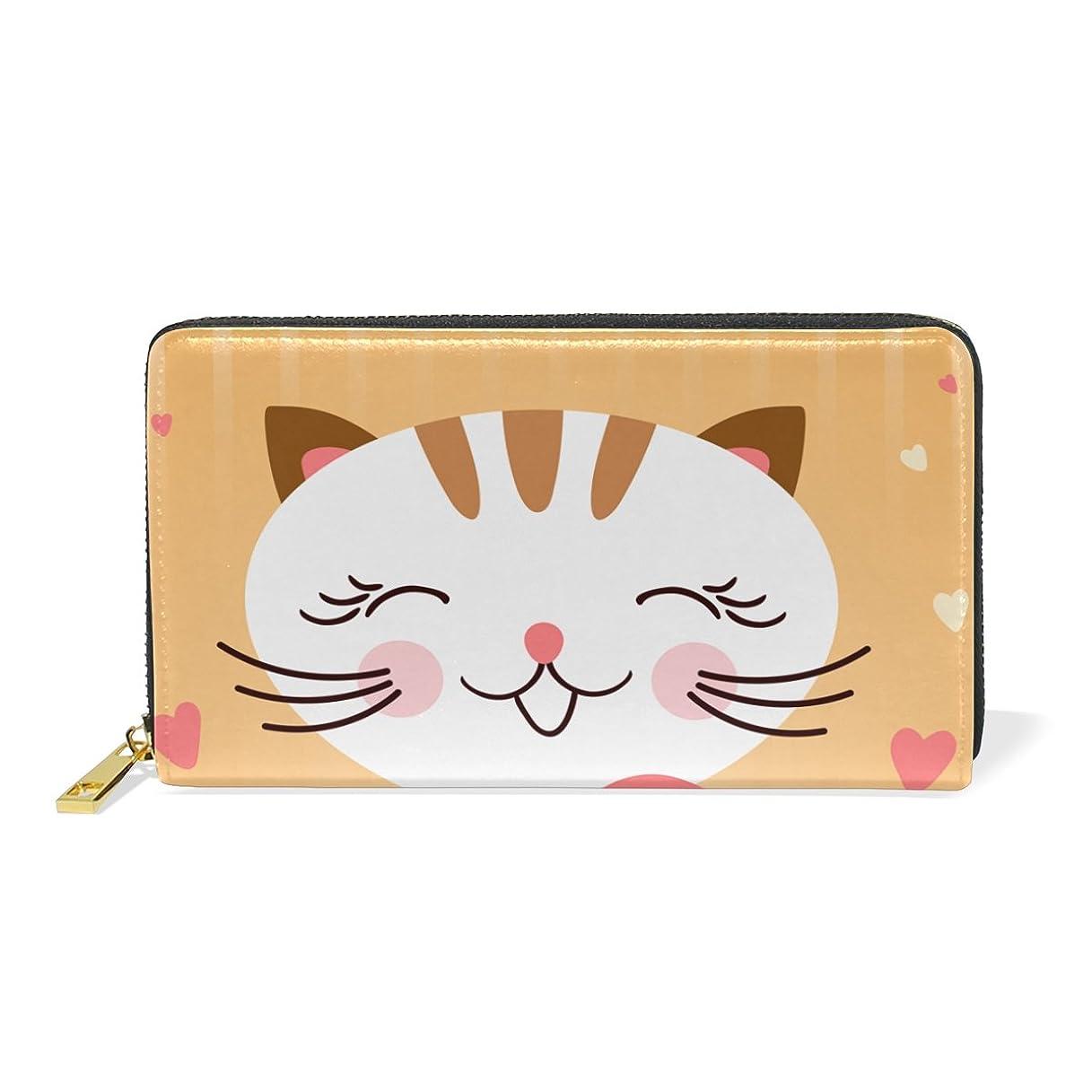 追加する万一に備えて従うAyuStyle 長財布 レディース おしゃれ メンズ ファスナー 財布 猫の日 猫 キャット ネコ 猫柄 かわいい 面白い お札入れ 小銭入れ カード入れ 大容量入学式 卒業式 誕生日 プレゼント
