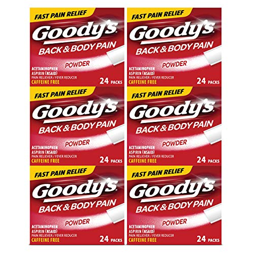 Goody's Back and Body Pain Relief Powder, 24 Count, 6 Pack
