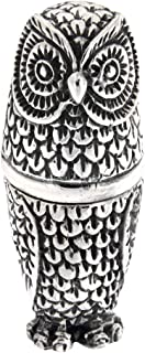 Antique/Vintage Style Highly Detailed Owl Pin Cushion in Fine Sterling Silver