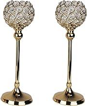 YIFEIJIAO, Castiçais de cristal conjunto de 2 suportes decorativos para candelabro