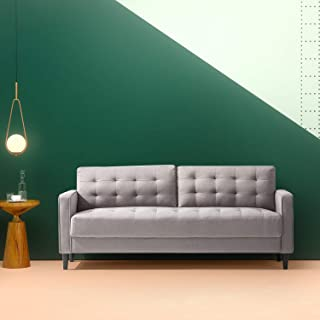 Zinus Benton Mid-Century Sofa Couch / Grid Tufted Cushions / Easy, Tool-Free Assembly