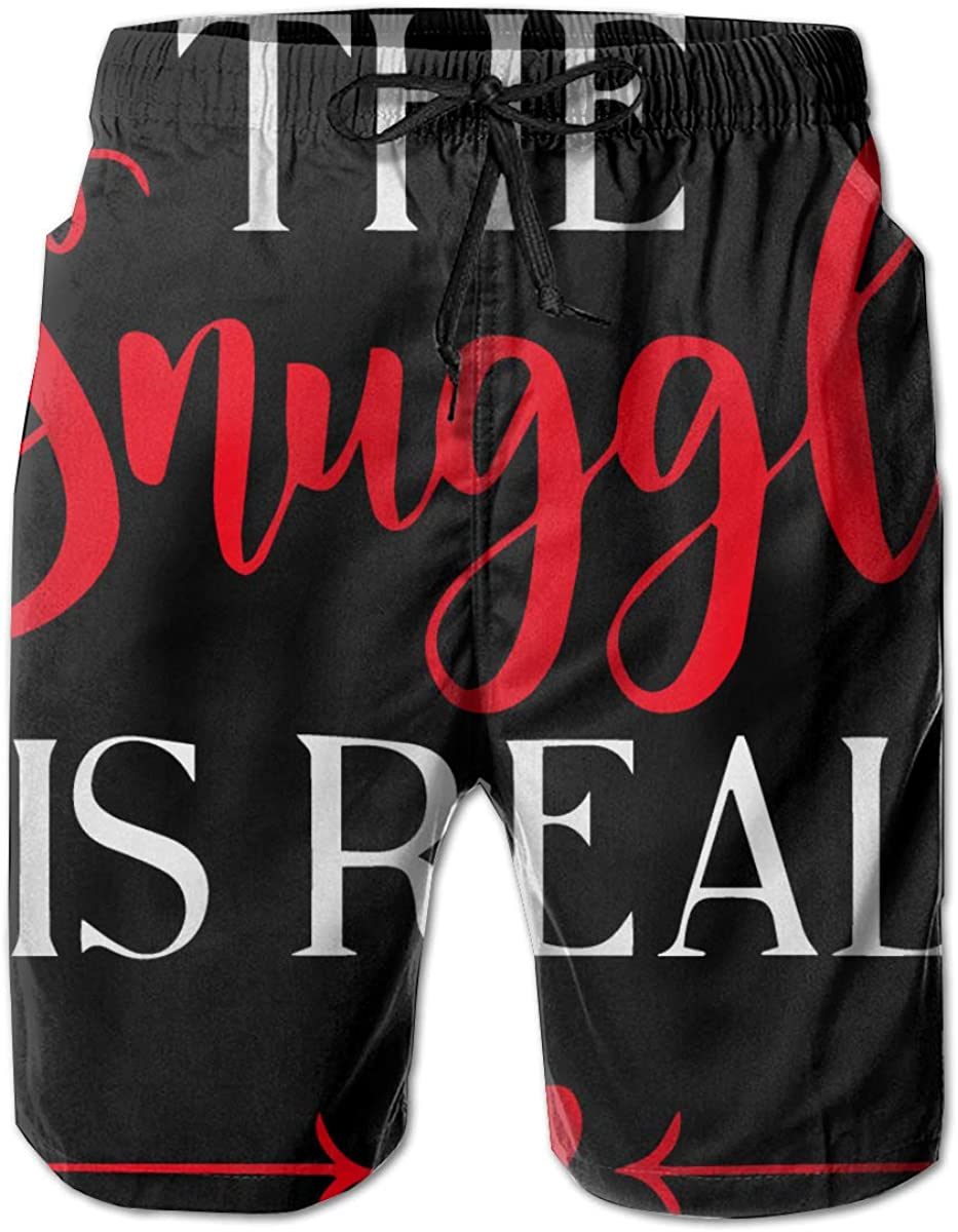 The Snuggle is Real Men's Denver Mall Summer Beach Trunk Swim Surf Quick-Dry overseas