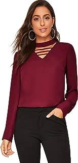 Best long sleeve choker blouse Reviews