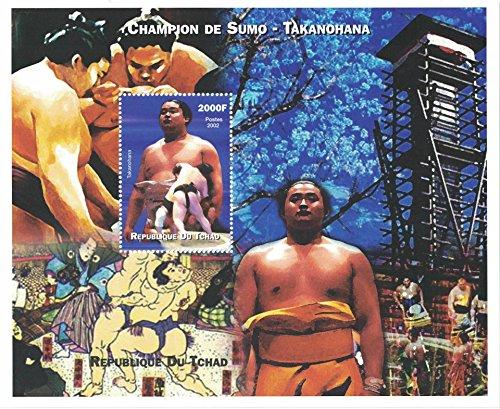Postzegels voor verzamelaars - geperforeerd zegelblad met Sport/Sumo/Takanohana/Sumo Champion/Japanse kunst