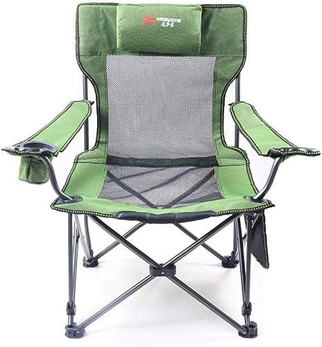 DOSNVG Fauteuil de Camping Chaise de Jardin de pêche Pliante, Polyvalente Gain de Place Portable Durable antidérapante Tabouret de pêche en Plein air Fauteuil Chaise de Jardin Robuste, vert