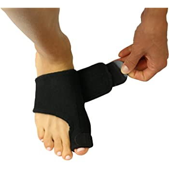 Bunion Splint by Vive [Pair] - Toe Straightener & Corrector Brace Pad for Hallux Valgus Pain Relief - Night Time Support for Men & Women (Black)