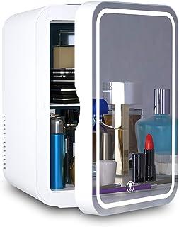 Refrigerador pequeño portátil de 6 litros, CA/CC, para maquillaje, refrigerador termoeléctrico y calentador para cuidado d...