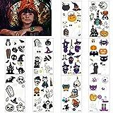 10 Hojas Pegatinas de Tatuaje Temporal de Halloween Más de 90 Tipos de Pegatinas de Tatuajes...
