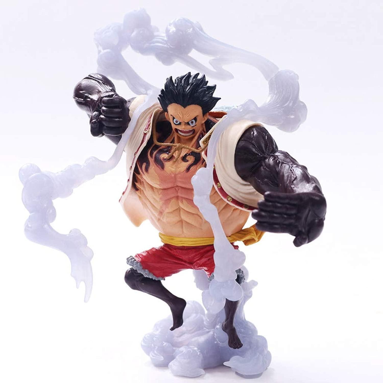 HNLJ giocattolo Statue One Piece giocattolo modello Personaggio dei autotoni Animati Anime Decorazione Decorazione A Quattro velocità strada Fly   14CM Crafts Statue