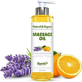 Aceite Para Masaje Natural y Orgánico | Aceites Esenciales de Lavanda y Naranja | Relajante e Hidratante Para Adultos Niñ...